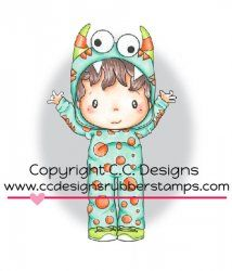 *New C.C. Designs Swiss Pixie Monster Eli Rubber Stamp