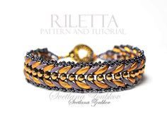 Riletta is an elegant design for a bracelet with Crescent beads. Riletta Bead Pattern Tutorial is easy to follow.