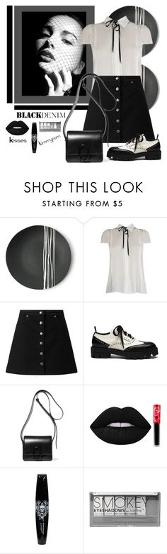 """Untitled #1799"" by timmypom ❤ liked on Polyvore featuring Sarah Cihat, Miss Selfridge, Mulberry, 3.1 Phillip Lim, Lime Crime, Boohoo, Oxfords, blackandwhite, skirts and blouse"