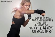 Amen to that... There are no tricks. Just work hard and eat right. :) www.facebook.com/coachsummerglen