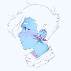 I love this blue lady! Her freckles are sparkles this is so cute. Character Art, Character Concept, Concept Art, Character Ideas, Kunst Inspo, Art Inspo, Fantasy Kunst, Fantasy Art, Anime Kunst