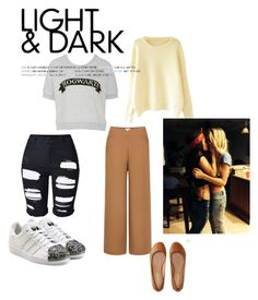 """""""Lauren & Isabelle"""" by lucy-evans-rey ❤ liked on Polyvore featuring Uniqlo, adidas Originals and Aéropostale"""