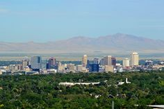 Salt Lake City skyline. I'm sorry to say I don't remember much about this city.  I kept looking for the salty lake.  I was only nine. July 1967