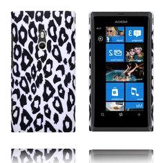 Safari Fashion (Hvit Leopard) Nokia Lumia 800 Deksel