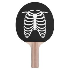 Original Horror Ribcage of a skeleton Halloween Ping-Pong Paddle - Halloween happyhalloween festival party holiday