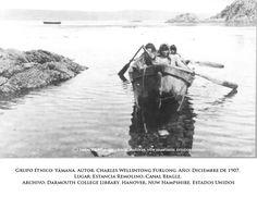 Fueguinos » admin Patagonia, Chile, Terra, Dark, Blue, Dibujo, Pintura, Native Americans, People