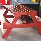 Pallet Picnic Table.  This site has 100s of Free Easy Project Plans