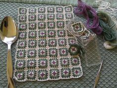 Dollhouse Miniature Crocheted Afghan by Michelle Blohm, IGMA