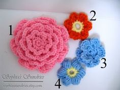 Sophia's Sundries (formerly Frugal Ideas from the Parsonage): Dimensional Crocheted Flowers