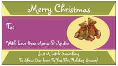 Use this Vistaprint deal to create customized Christmas gift tags (through the business cards section).  They are a big time saver and everyone loves how they are personalized....