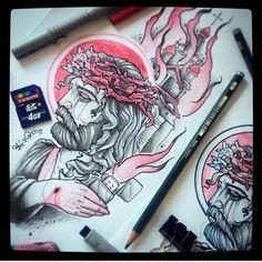 925 отметок «Нравится», 8 комментариев — Multyara (@multyaratattoo) в Instagram: «#Jesus #inked #inkedmag #inkfreakz #inkartist #tattooinrussia #tattoosnob #tattooistartmag…»