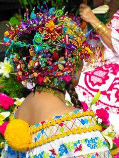 Carnaval in Panama! Pollera .. Traditional clothing of Panama!