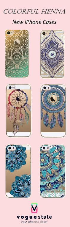 The newest and popular Henna iPhone Case!Make your phone unique, give it a gift!