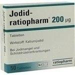 JODID ratiopharm 200µg (mcg) Tabletten:   Packungsinhalt: 50 St Tabletten PZN: 04620001 Hersteller: ratiopharm GmbH Preis: 1,68 EUR inkl.…