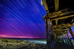 Under the Pier Star Trails @ Point Lonsdale VIC Australia.  js