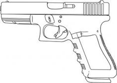 how to draw a glock 17 9mm hand gun step 6