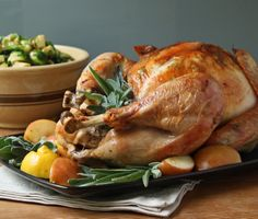 Easy Roasted Turkey w/ Sage Butter #IBreatheImHungry