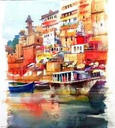so crowded yet so accommodating... Watercolour Milind Mulick
