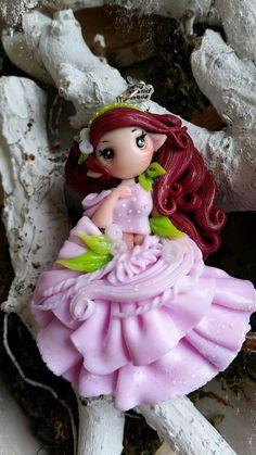 fimo Elfe mit roten Haaren