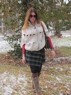 casaqueto de trico e saia envelope