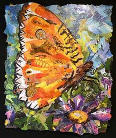 Giant Butterfly Wings No 4 - collage by Eileen Downes