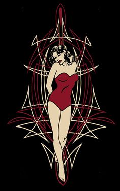 Pinstripe Girl : Authentic Zombie Hotrod Wear, Hot Rod & Hot Rod Pin Up Shirts