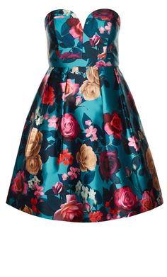City Chic - LUSH FLORAL DRESS - Women's Plus Size Fashion