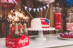 fourth of july wedding ideas   fourth of july wedding dessert bar ideas Nessa K Photography 550x366 ...
