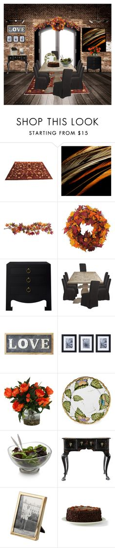 """Home for the Holiday's"" by kim-mcculley ❤ liked on Polyvore featuring interior, interiors, interior design, home, home decor, interior decorating, Nearly Natural, Bungalow 5, Parlane and Mikasa"