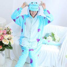 6972fc96fe Kigurumi Cartoon Anime Pink Stitch Unicorn Pajamas For Women Ladies Cat  Rabbit Winter Adult Pijamas Halloween Flannel Pyjama