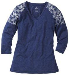 Ascend® Go Anywhere V-Neck Shirt for Ladies - Three-Quarter Sleeve | Bass Pro Shops