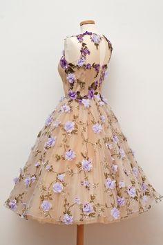springdress vintage dress flowers cute