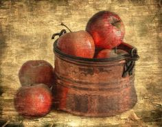 still life photo of a bowl of apples