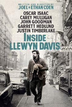 Inside Llewyn Davis Movie Poster - Justin Timberlake, Carey Mulligan, Adam Driver  #InsideLlewynDavis, #MoviePoster, #Drama, #EthanCoenJoelCoen, #AdamDriver, #CareyMulligan, #JustinTimberlake