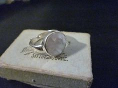 Unique mother of pearl and sterling silver ring - 925 - UK M - US 6.25 by MalvernJewellery on Etsy