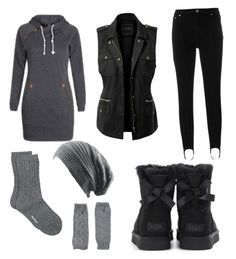 """Contest: keep warm"" by dtlpinn on Polyvore featuring MSGM, LE3NO, Barbour, Rinascimento and UGG"