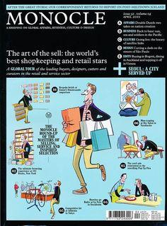 Monocle Magazine Cover illustrations by Satoshi Hashimoto www.dutchuncle.co.uk/satoshi-hashimoto-images