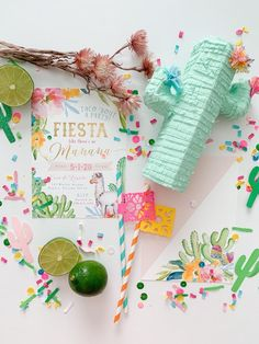 """Fiesta Invite from a """"Taco 'Bout a Party"""" Colorful Fiesta on Kara's Party Ideas 