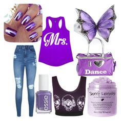 """""""purple,purple and more purple"""" by sonny-weigle ❤ liked on Polyvore featuring Stephen Webster, Lipsy, WearAll, Bloch and Essie"""
