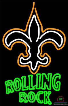 Rolling Rock Orleans Saints Neon Sign NFL Teams Neon Light