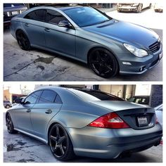 2009 Mercedes Benz CLS550 with a custom Matte Pearl paint job and customizing by #MultiAutoGroup   Les Voitures