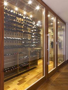 Eclectic Wine Cellar Design