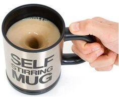 self stirring mug || Awesome!! But i can't help but wonder... Are people really this lazy these days for someone to even consider creating this device? O.o