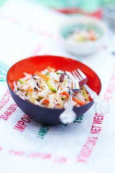 Riz #basmati cuisiné avec de fines lanières de #carottes, de #courgettes et de #champignons noirs, le tout assaisonné à l'huile d'olive, au vinaigre de #vin et avec une pincée de #gingembre #Picard