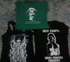 """Estamparia: Personalizamos e estampamos a sua ideia: imagem, frase ou logo preferido. Arte final. Telas sob encomenda. Estampas de/em camisas masculinas e femininas (e outros materiais). Fornecemos as camisas ou estampamos a sua própria. Envie a sua ideia ou escolha uma das """"nossas"""".... Blog: http://knupsilk.blogspot.com.br/ Pagina facebook: https://www.facebook.com/pages/KnupSilk-EstampariaSerigrafia/827832813899935?pnref=lhc https://twitter.com/KnupSilk"""