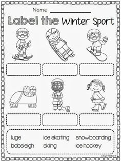 Winter Sports Label It