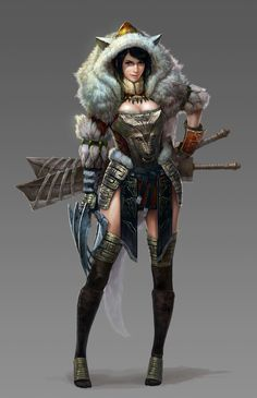 ArtStation - Northern woman assassin , Seung Chan Hong