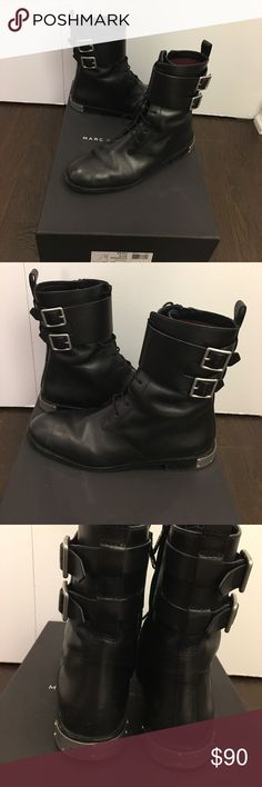 Marc by Marc Jacobs boots Awesome Marc by Marc Jacobs black boots. Original box and dust bag included. In great shape. Marc by Marc Jacobs Shoes Lace Up Boots