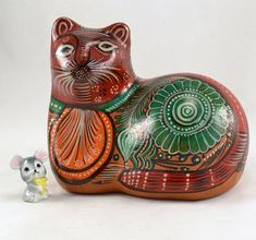 EL GATO..https://www.etsy.com/listing/251723194/cat-figurine-hand-painted-mexico-red