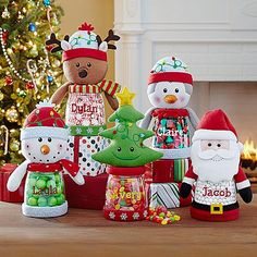 A Personal Creations Exclusive! Little ones will love having their very own treat jar, especially when it's topped with their favorite holiday pal.